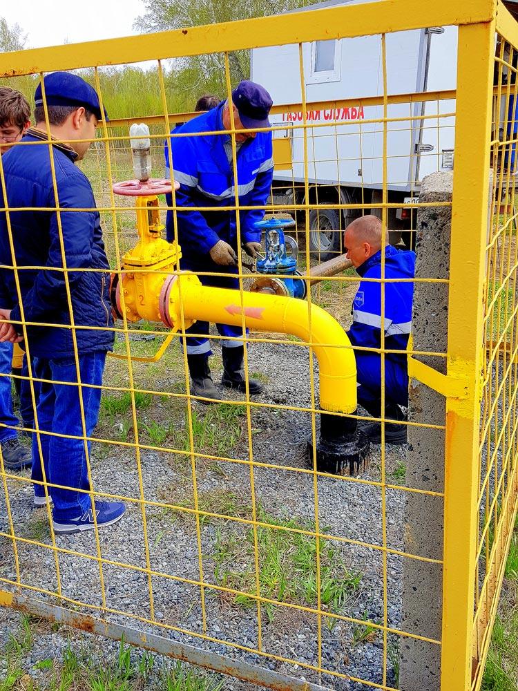 Работа по газификации коттеджного поселка березовый стан