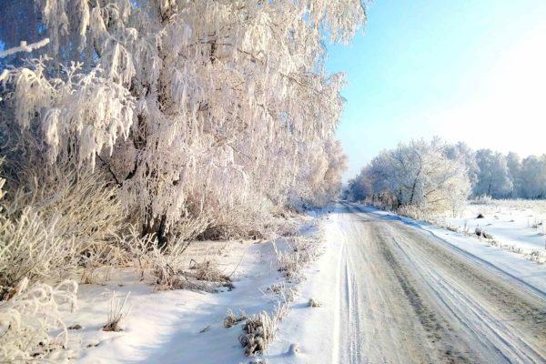 зимний заезд в поселок